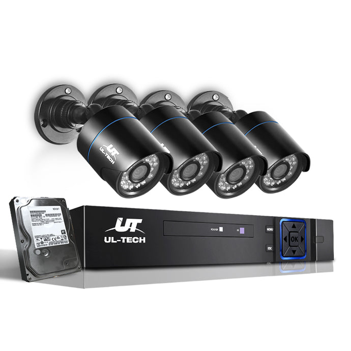UL Tech 1080P 4 Channel HDMI CCTV Security Camera with 1TB Hard Drive,Audio & Video > CCTV - Yochi Tech