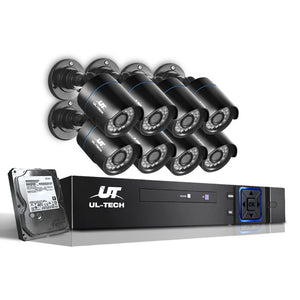 UL-Tech CCTV Security System 2TB 8CH DVR 1080P 8 Camera Sets,Audio & Video > CCTV - Yochi Tech