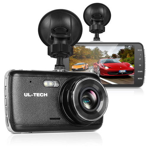 UL Tech 4 Inch Dual Camera Dash Camera - Black,Auto Accessories > Audio - Yochi Tech