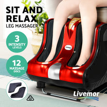Load image into Gallery viewer, Livemor Foot Massager Shiatsu Ankle Calf Leg Massagers Circulation Enhancer Machine Red,Health & Beauty > Massage - Yochi Tech
