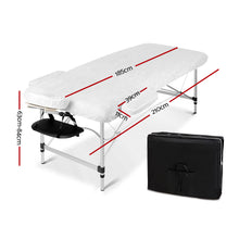 Load image into Gallery viewer, Zenses 70cm Wide Portable Aluminium Massage Table Two Fold Treatment Beauty Therapy Black,Health & Beauty > Massage - Yochi Tech