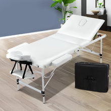 Load image into Gallery viewer, Zenses 3 Fold Portable Aluminium Massage Table - White,Health & Beauty > Massage - Yochi Tech