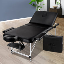 Load image into Gallery viewer, Zenses 70cm Wide Portable Aluminium Massage Table 3 Fold Treatment Beauty Therapy Black,Health & Beauty > Massage - Yochi Tech