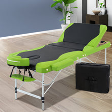 Load image into Gallery viewer, Zenses 3 Fold Portable Aluminium Massage Table - Green & Black,Health & Beauty > Massage - Yochi Tech