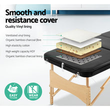 Load image into Gallery viewer, Zenses 3 Fold Portable Wood Massage Table - Black,Health & Beauty > Massage - Yochi Tech