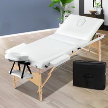 Load image into Gallery viewer, Zenses 3 Fold Portable Wood Massage Table - White,Health & Beauty > Massage - Yochi Tech