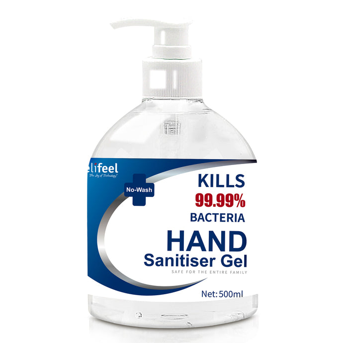 Relifeel Instant Hand Sanitiser Gel Alcohol Sanitizer Quick Dry 500ml No Wash,Health & Beauty > Personal Care - Yochi Tech