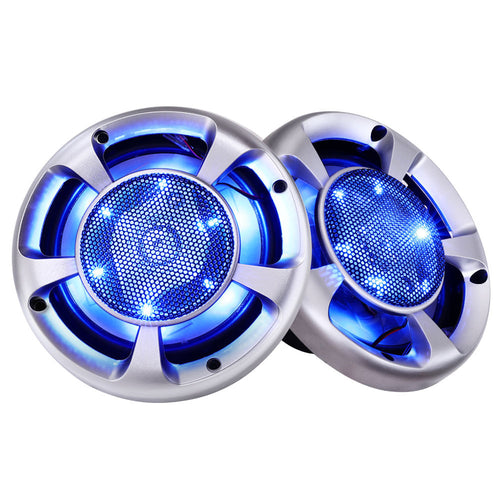 Giantz Set of 2 6.5inch LED Light Car Speakers,Auto Accessories > Audio - Yochi Tech