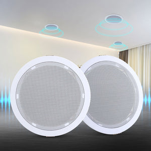 "2 x 6"" In Ceiling Speakers Home 80W Speaker Theatre Stereo Outdoor Multi Room,Audio & Video > Speakers - Yochi Tech"