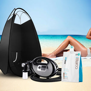 Spray Tan Machine Solution Tent Kit Spray Gun HVLP Sunless COFFEE,Health & Beauty > Spray Tan - Yochi Tech