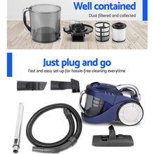Load image into Gallery viewer, Devanti 2800W Bagless Vacuum - Blue,Appliances > Vacuum Cleaners - Yochi Tech