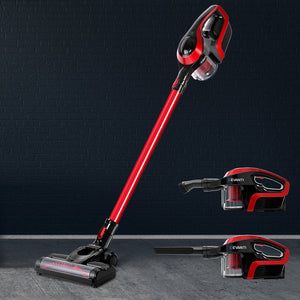 Devanti Cordless Stick Vacuum Cleaner - Black and Red,Appliances > Vacuum Cleaners - Yochi Tech