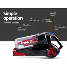 Load image into Gallery viewer, Devanti Cordless Handstick Vacuum Cleaner - Black and Red,Appliances > Vacuum Cleaners - Yochi Tech