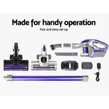 Load image into Gallery viewer, Devanti Cordless 150W Handstick Vacuum Cleaner - Purple and Grey,Appliances > Vacuum Cleaners - Yochi Tech