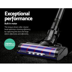 Devanti Cordless Handstick Vacuum Cleaner Head- Black,Appliances > Vacuum Cleaners - Yochi Tech