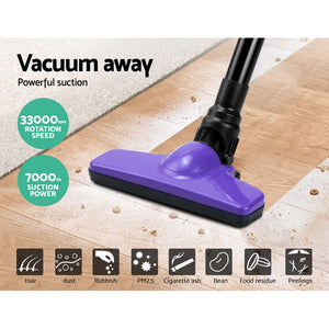 Devanti 120W Cordless Stick Vacuum Cleaner Handheld Handstick Vac Rechargeable Purple and Black,Appliances > Vacuum Cleaners - Yochi Tech