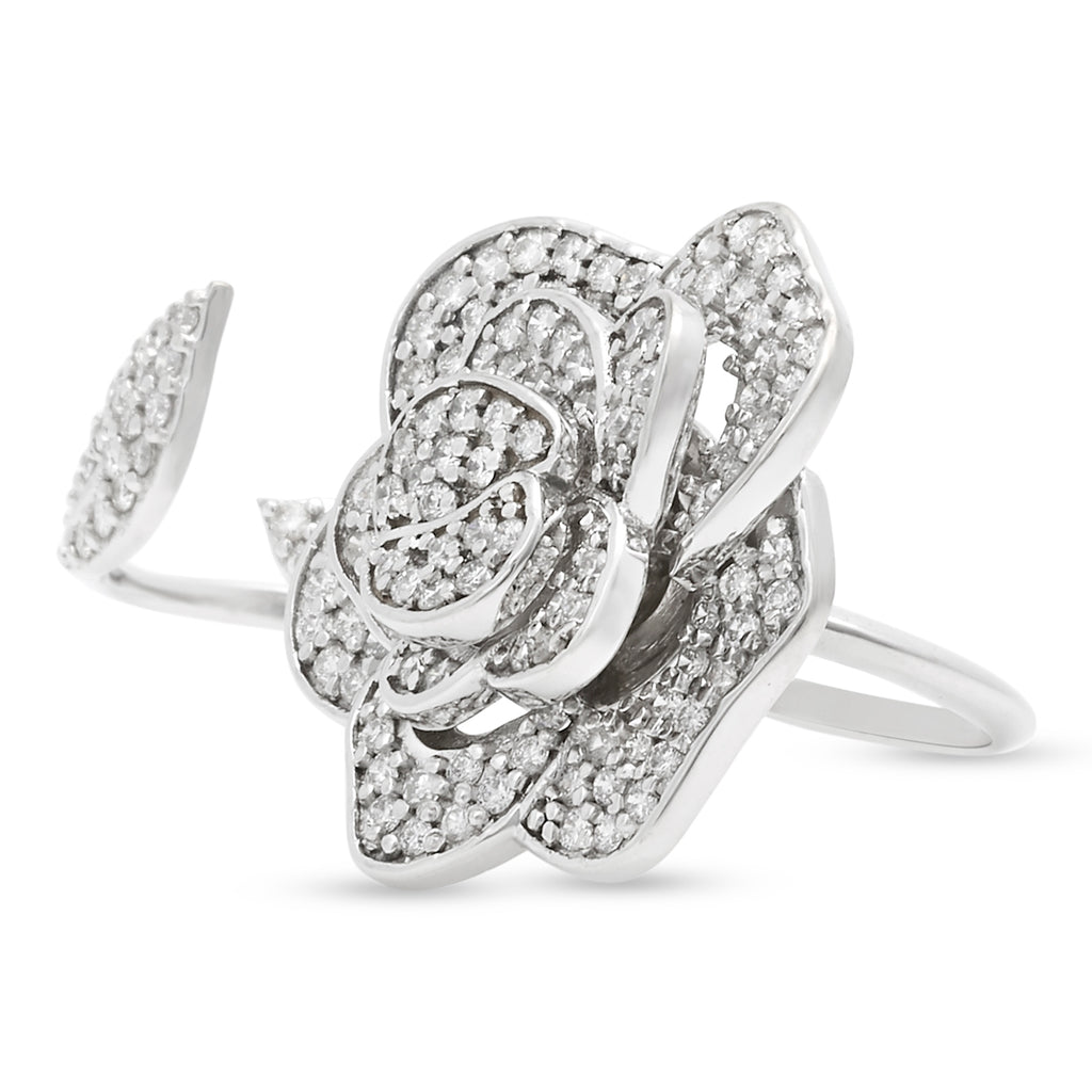 Double-finger Camillia Ring