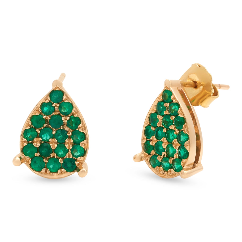Emerald Droplets Earrings
