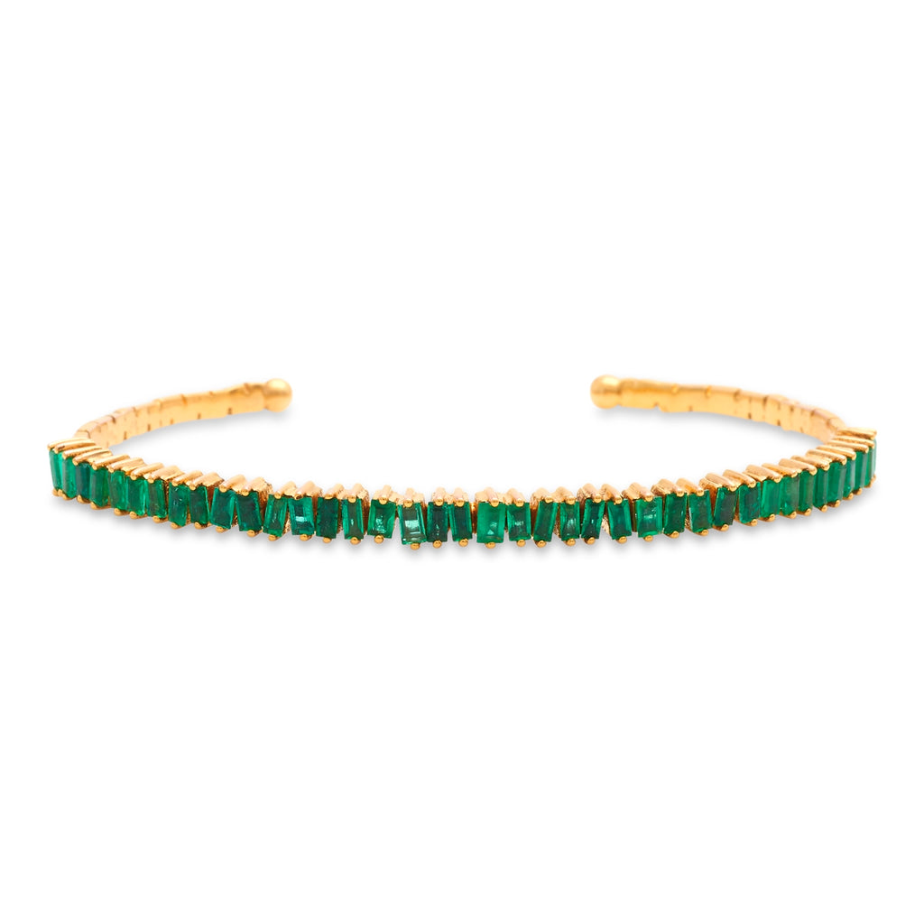 Emerald Jagged Edge Cuff