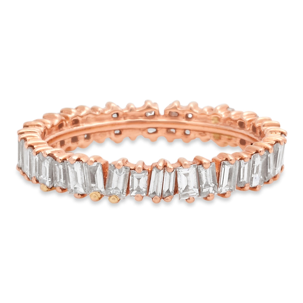 Rose Gold Jagged Edge Full Eternity Ring
