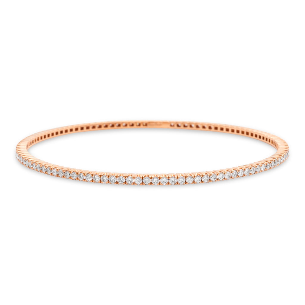 Rose Gold Pave Bangle