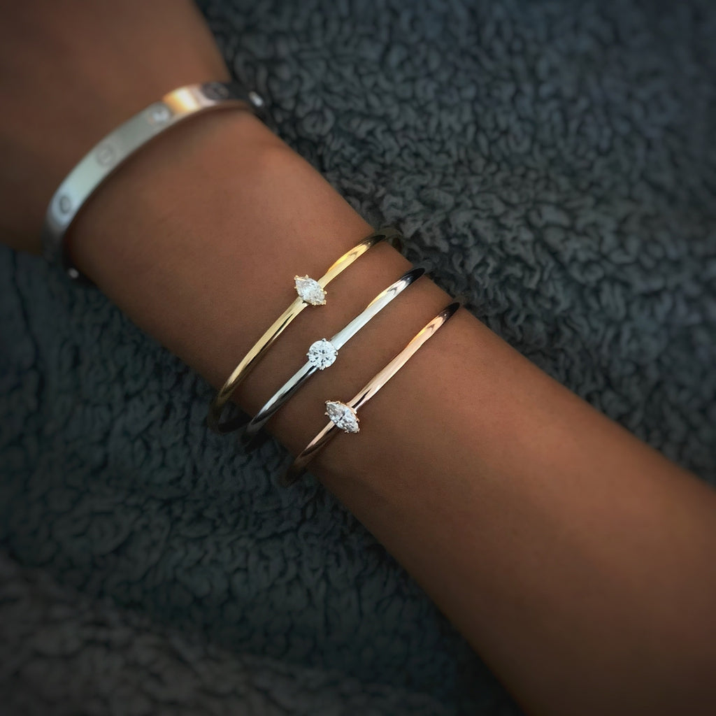 Rose Gold Trilogy Cuff