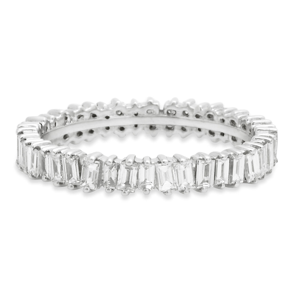 White Gold Jagged Edge Full Eternity Ring