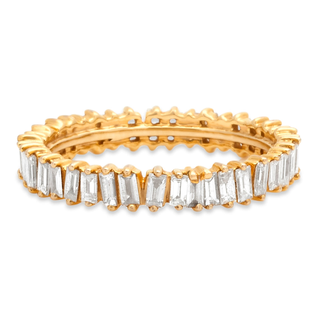 Yellow Gold Jagged Edge Full Eternity Ring