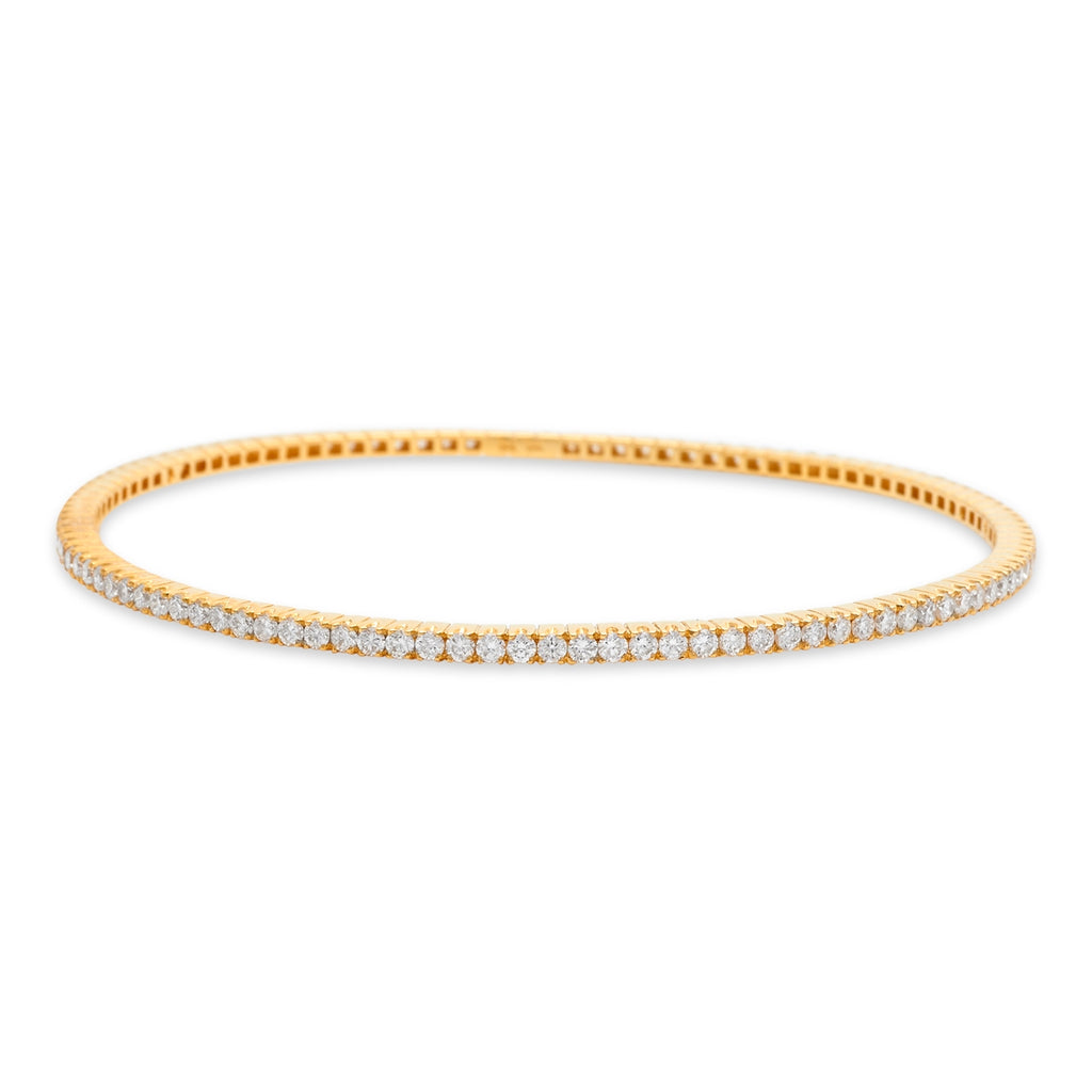 Yellow Gold Pave Bangle