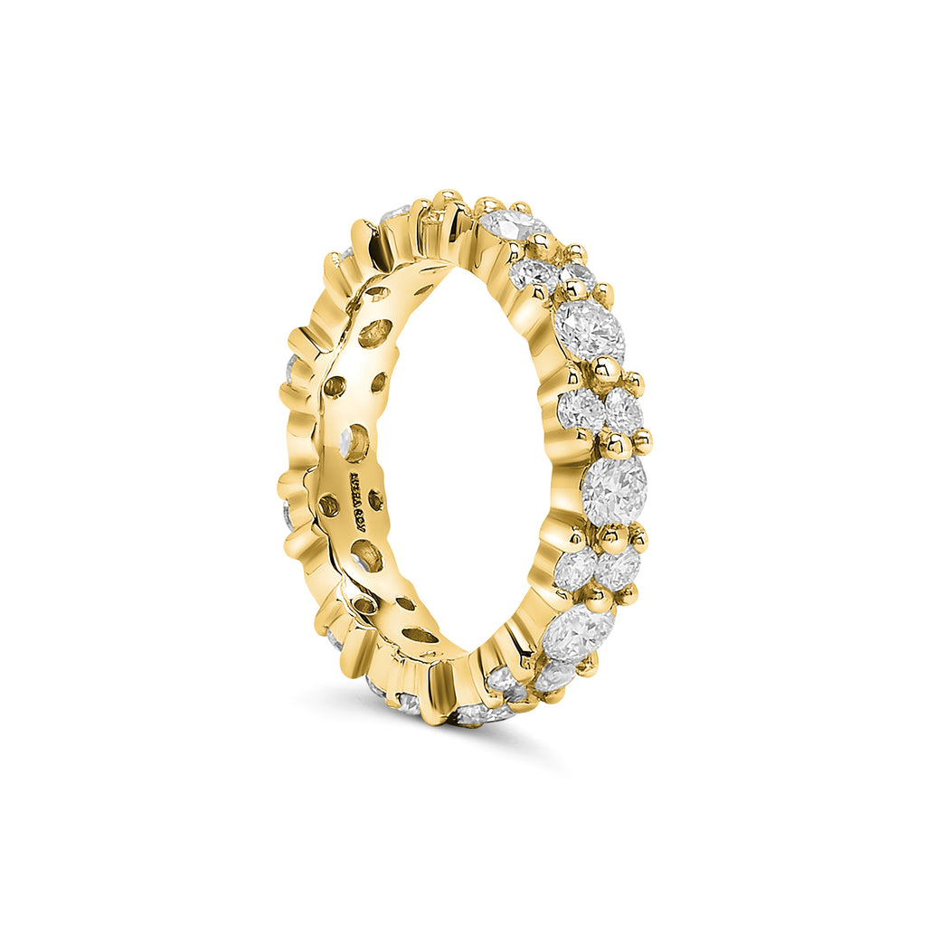 Yellow Gold Diamond Garland Eternity Ring