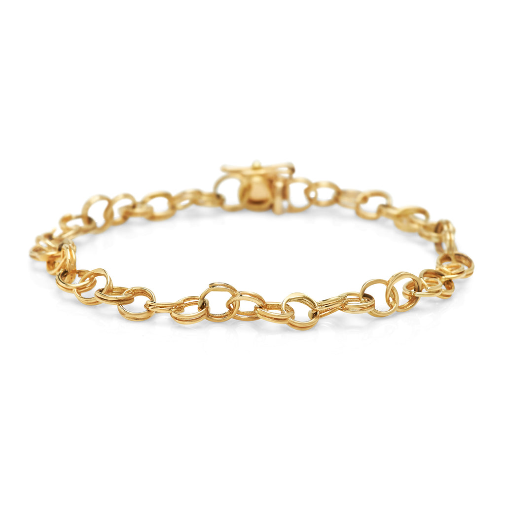 Yellow Gold Cirque Chainlink Bracelet