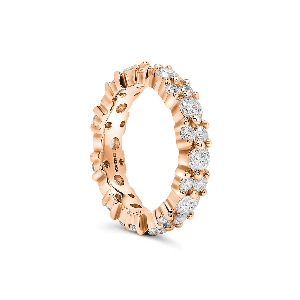 Rose Gold Diamond Garland Eternity Ring