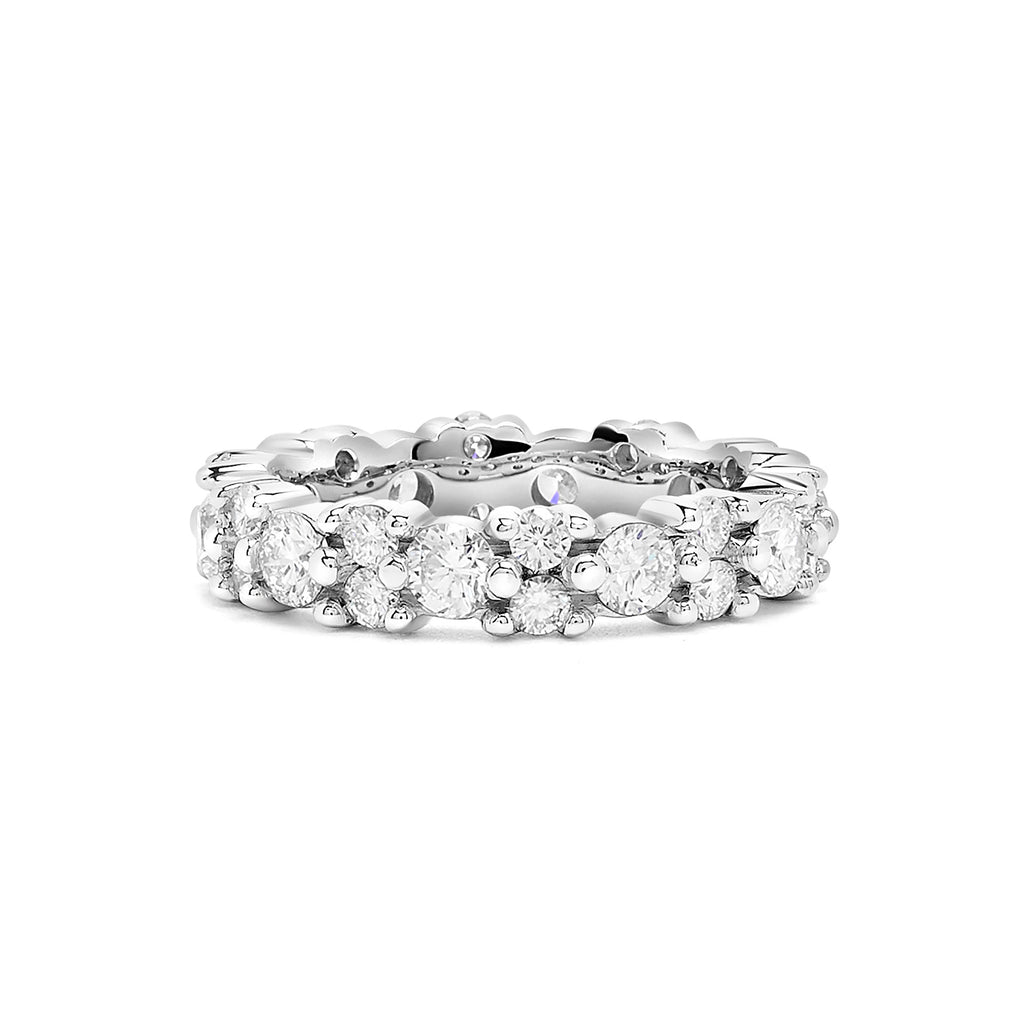 White Gold Diamond Garland Eternity Ring