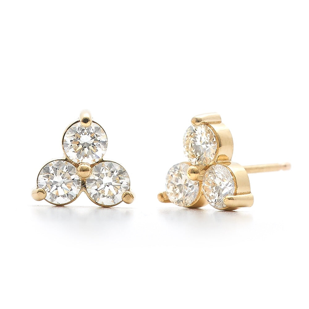 Mimie Diamond Cluster Earrings - Medium