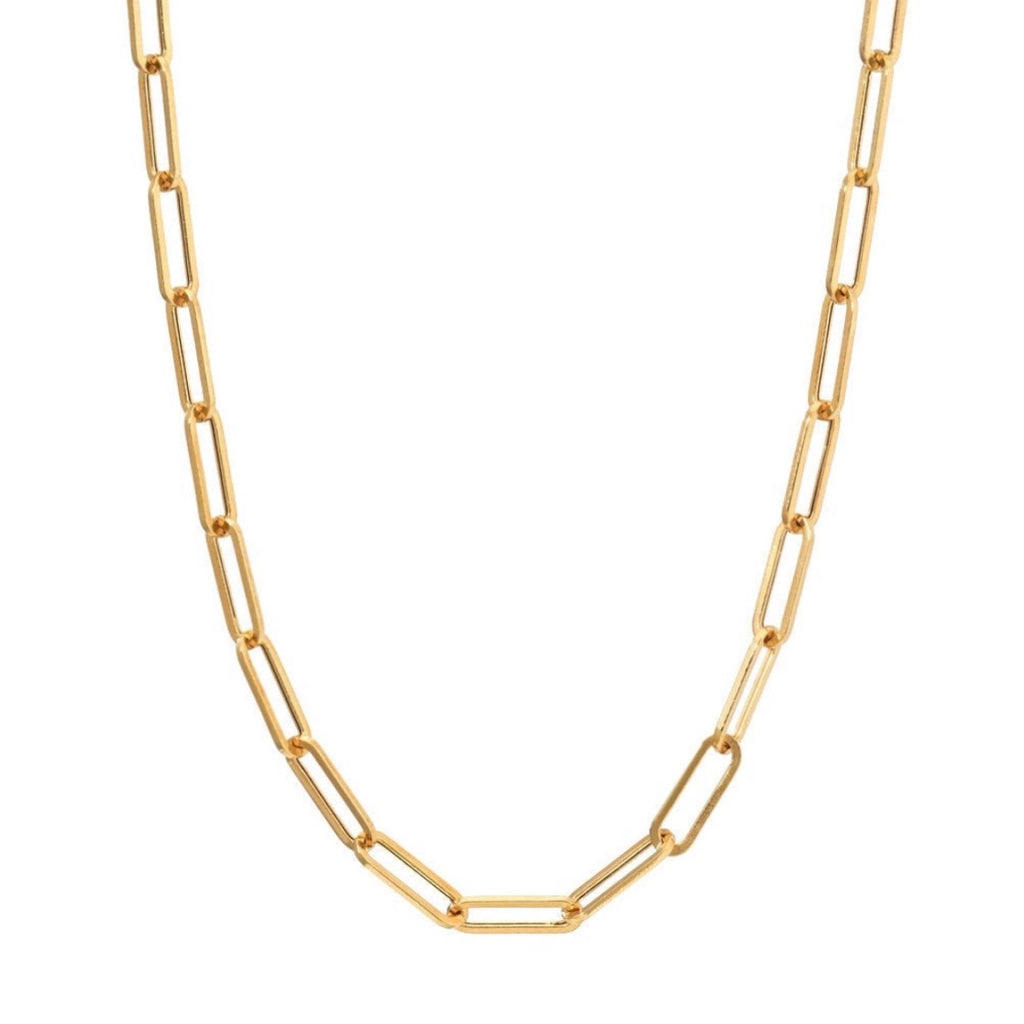 Geometric Chain-link Necklace
