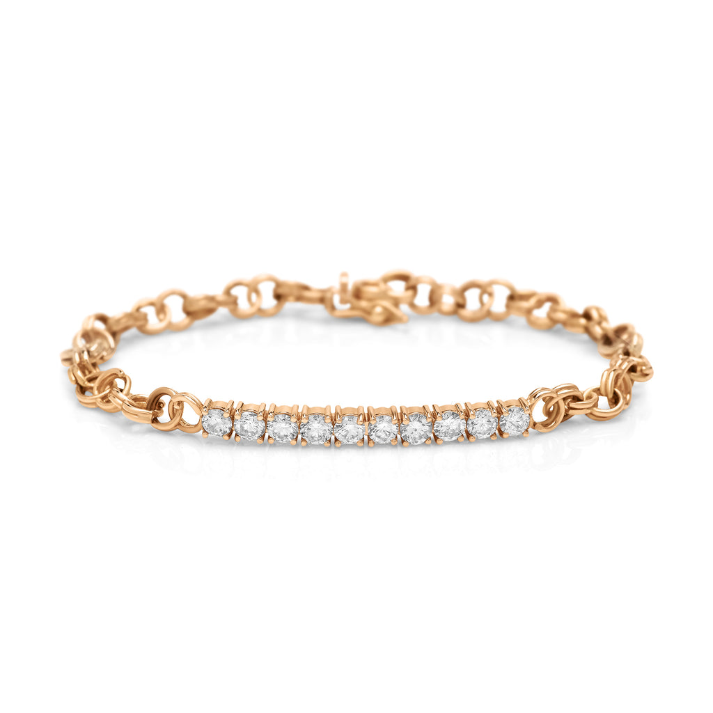 Rose Gold Cirque Diamond Chainlink Bracelet