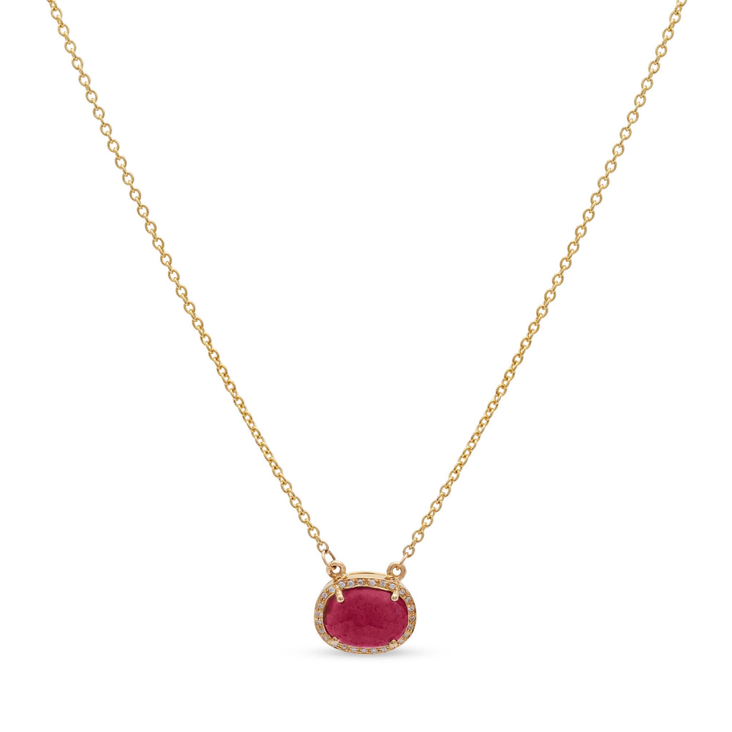 Ruby Slice Necklace