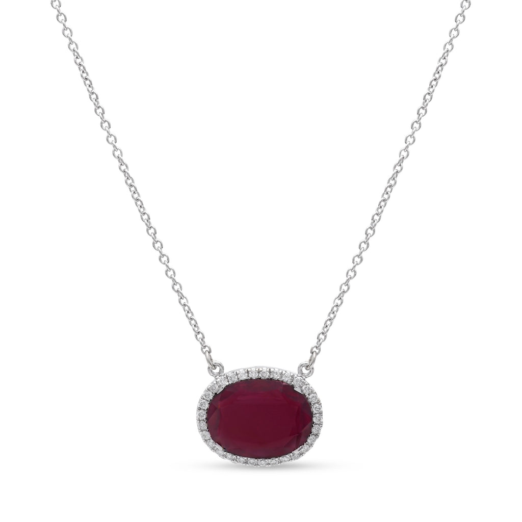 Rhodolite Garnet Slice Necklace
