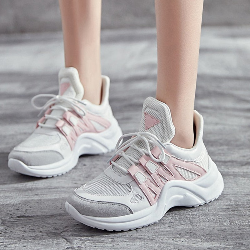 Women's Shoes Women 2019 Hot Fashion Tenis Breathable Mesh Chunky Dad Sneakers
