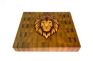Walnut with Lion Head Inlay