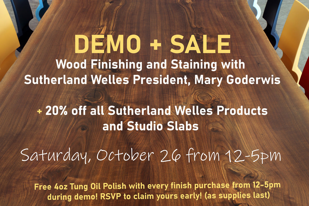 Wood Finishing and Staining DEMO + SALE