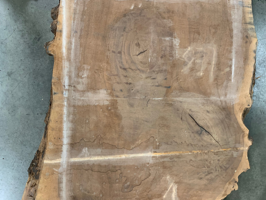 "Claro Walnut Slab #10165 (168"" x 34"" - 46"" x 2.5"")"