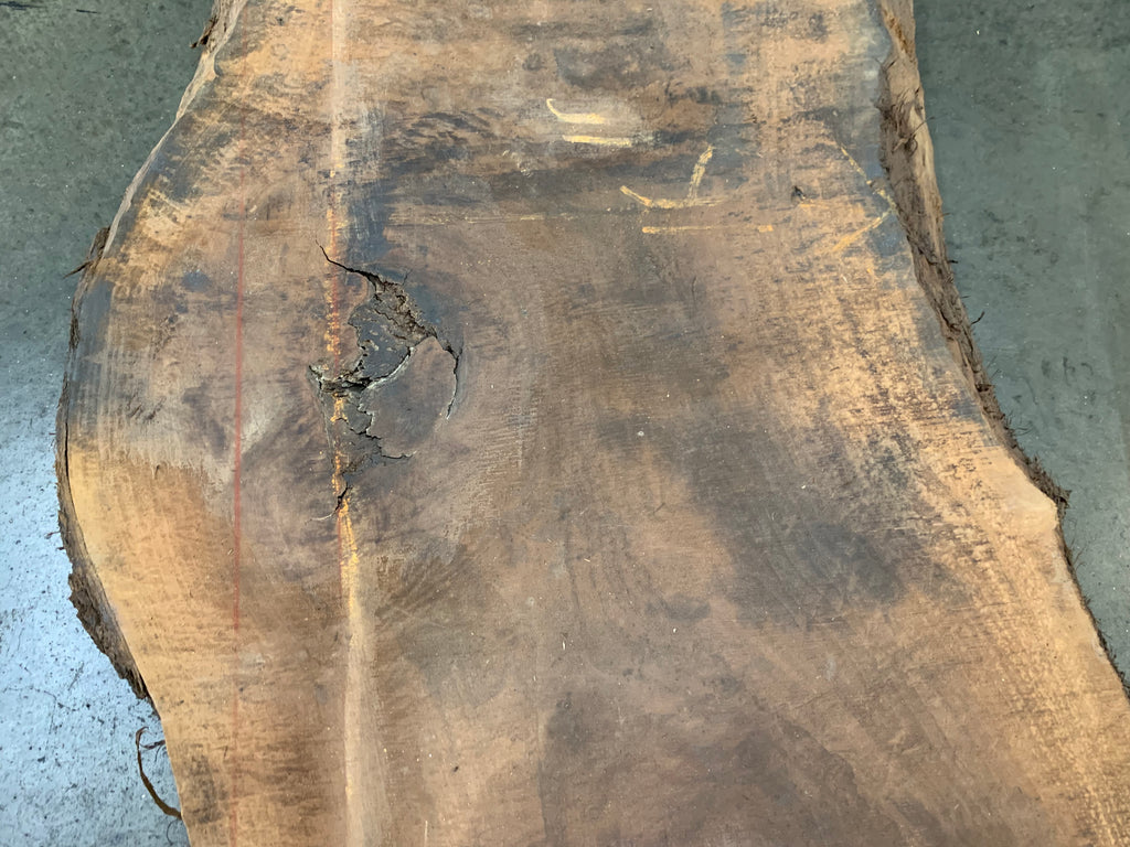 "Claro Walnut Slab #10214 (173"" x 21"" - 30"" x 2.75"")"