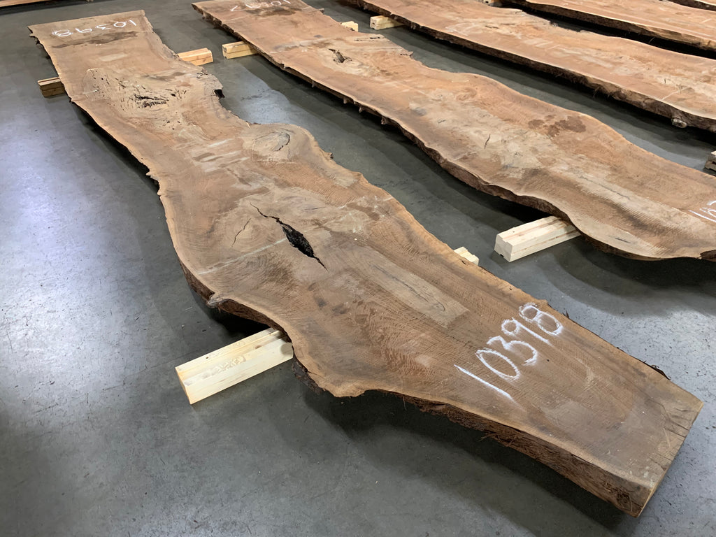 "Claro Walnut Slab #10398 (179"" x 22"" - 32.5"" x 2.5"")"
