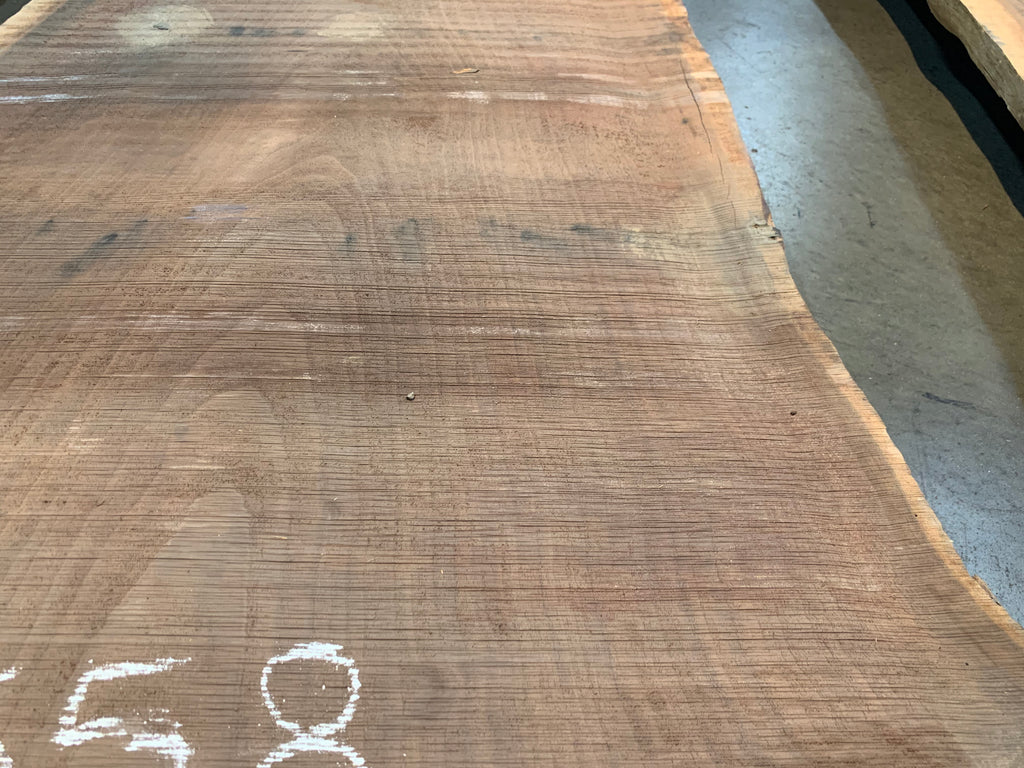 "Claro Walnut Slab #10558 (137"" x 32"" - 43"" x 2.5"")"