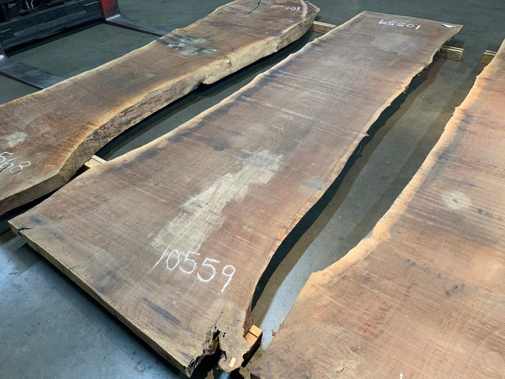 "Claro Walnut Slab #10559 (137"" x 35"" - 41"" x 2.5"")"