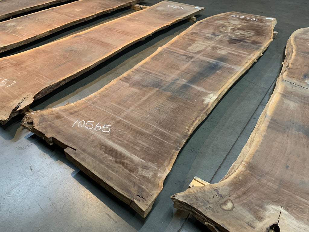 "Claro Walnut Slab #10565 (136"" x 32"" - 42"" x 2.5"")"