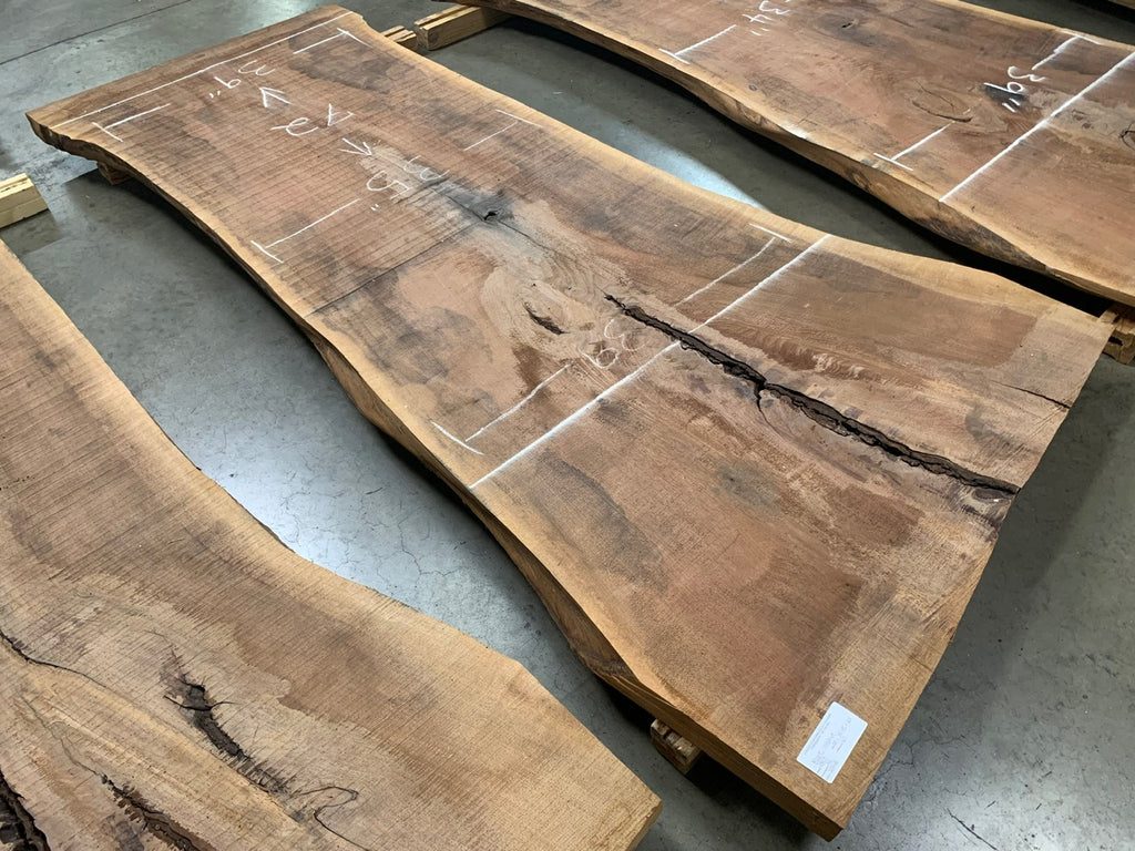 "Black Walnut Slab #10900 (100"" x 34"" - 45"" x 2.5"")"