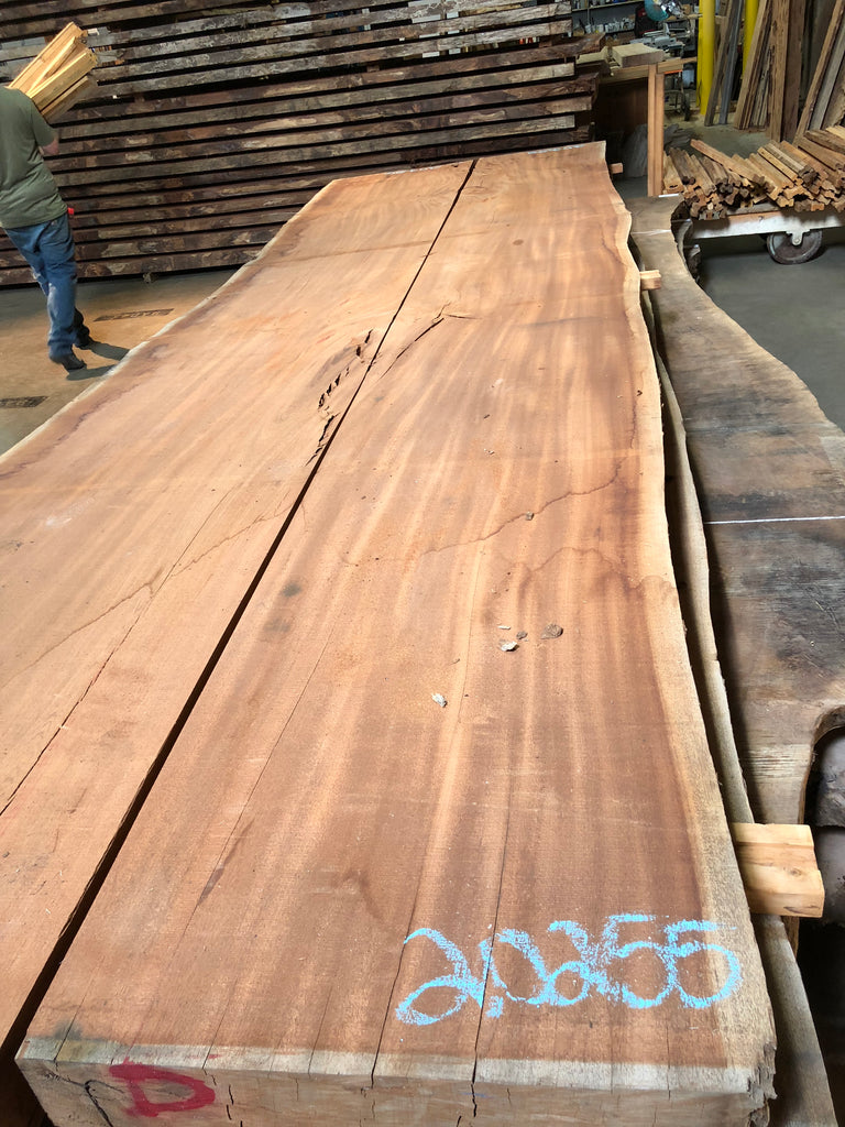 "African Mahogany (Sipo) Live Edge Slab (3.75"" x 22.5 - 26.62"" x 199"")"