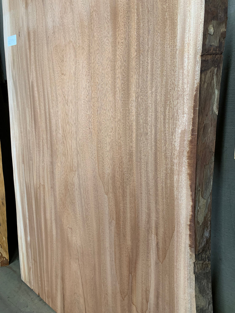"African Mahogany (Sipo) Live Edge Slab (2"" x 48 - 50"" x 85"")"